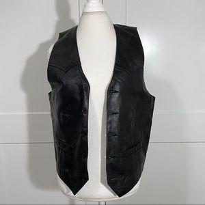 Scully Men's Black Genuine Leather Vest